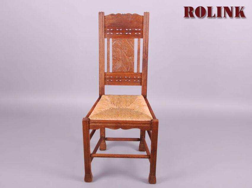 antik set 6 st hle um anno 1900 ess wohn zimmer eiche schnitzerei binsengeflecht ebay. Black Bedroom Furniture Sets. Home Design Ideas