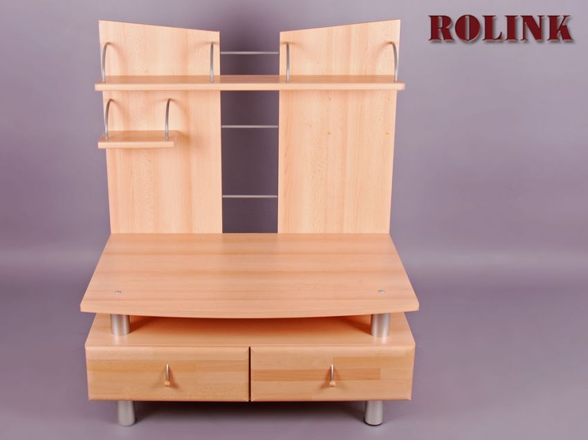 lowboard m 2 schubladen wohnzimmer m bel tv schrank hifi rack buche ebay. Black Bedroom Furniture Sets. Home Design Ideas