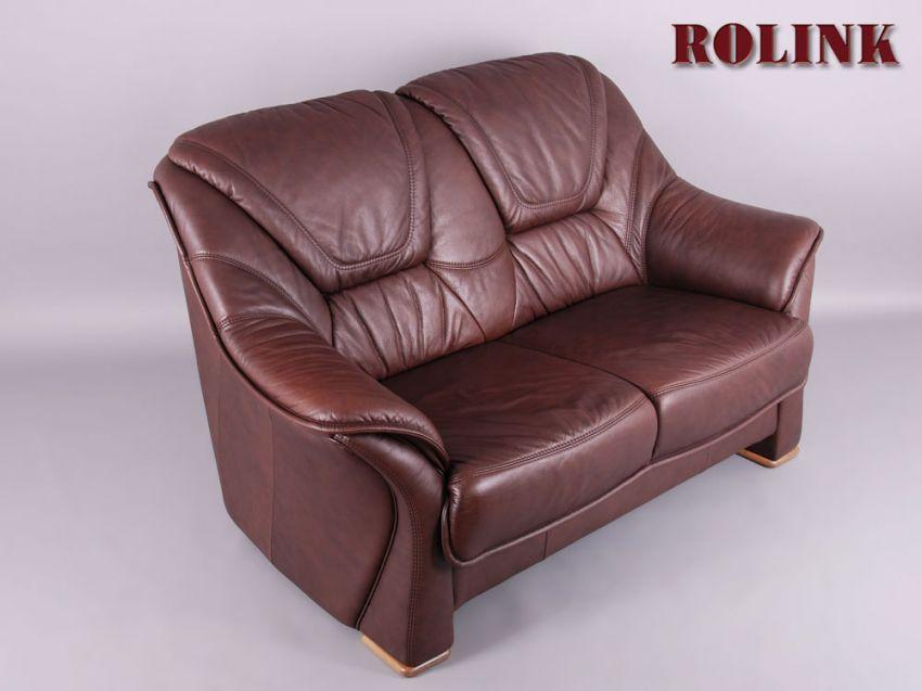 longlife echt leder sofa 2 sitzer couch farbe dunkelbraun garnitur by himolla. Black Bedroom Furniture Sets. Home Design Ideas