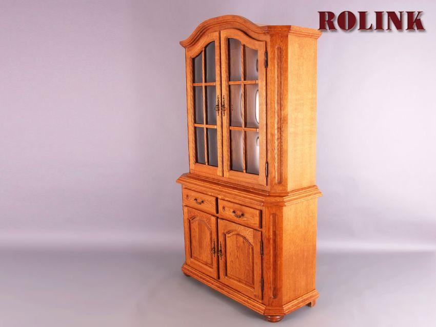 glas vitrine schrank wohnzimmer wohnwand eiche rustikal landhaus stil gebraucht. Black Bedroom Furniture Sets. Home Design Ideas