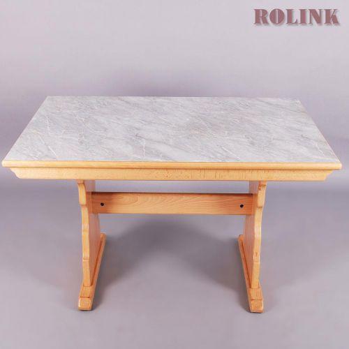 Esstisch wohnzimmertisch buche marmor optik 80er for Wohnzimmertisch aus marmor