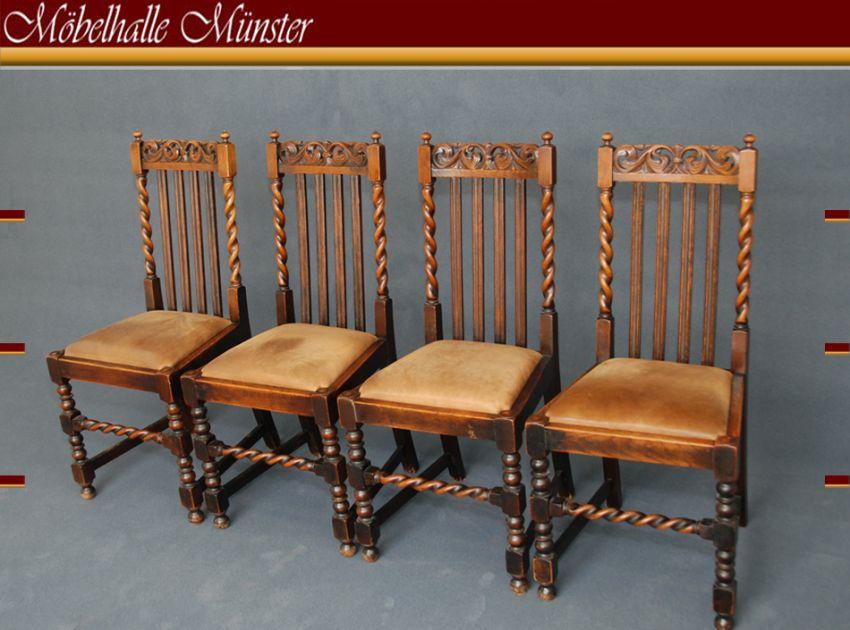 st hle 4er satz englisch um 1900 ebay. Black Bedroom Furniture Sets. Home Design Ideas