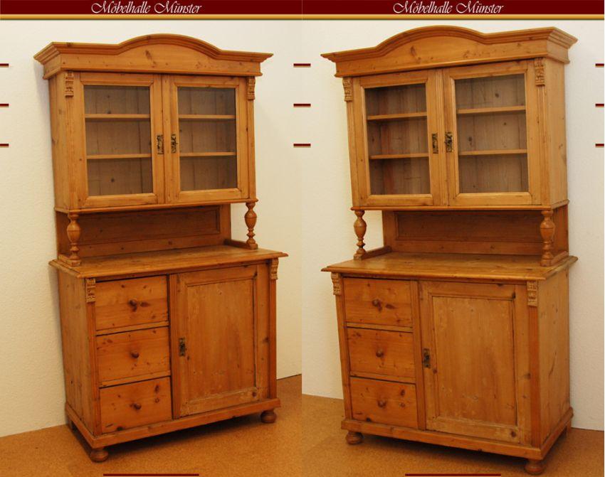 k chenbuffetschrank kiefer um 1900 ebay. Black Bedroom Furniture Sets. Home Design Ideas