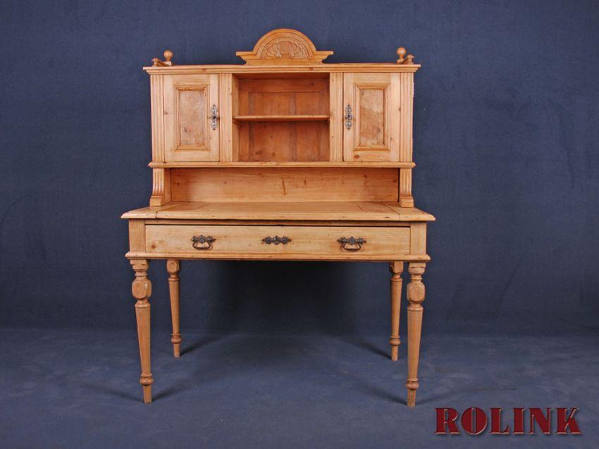 gr nderzeit schreibtisch sekret r tisch in weichholz. Black Bedroom Furniture Sets. Home Design Ideas