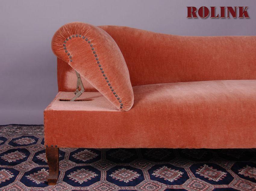 Ottomane, Wohnzimmer Sofa, Liegesofa, Couch, Recamiere Links In ... Wohnzimmer Sofa Rot