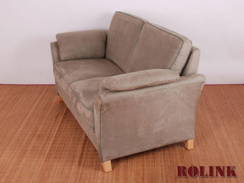 hochwertiges wohnzimmer sofa 2 sitzer von geparde in alcantara in grau gr n ebay. Black Bedroom Furniture Sets. Home Design Ideas