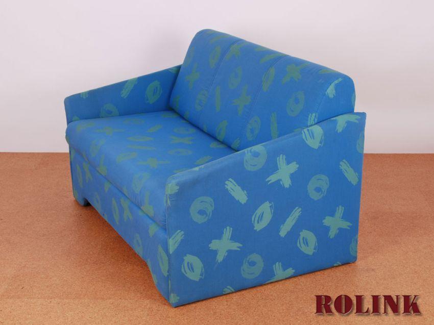 jugendzimmer, wohnzimmer sofa, couch, schlafsofa 2 sitzer in blau