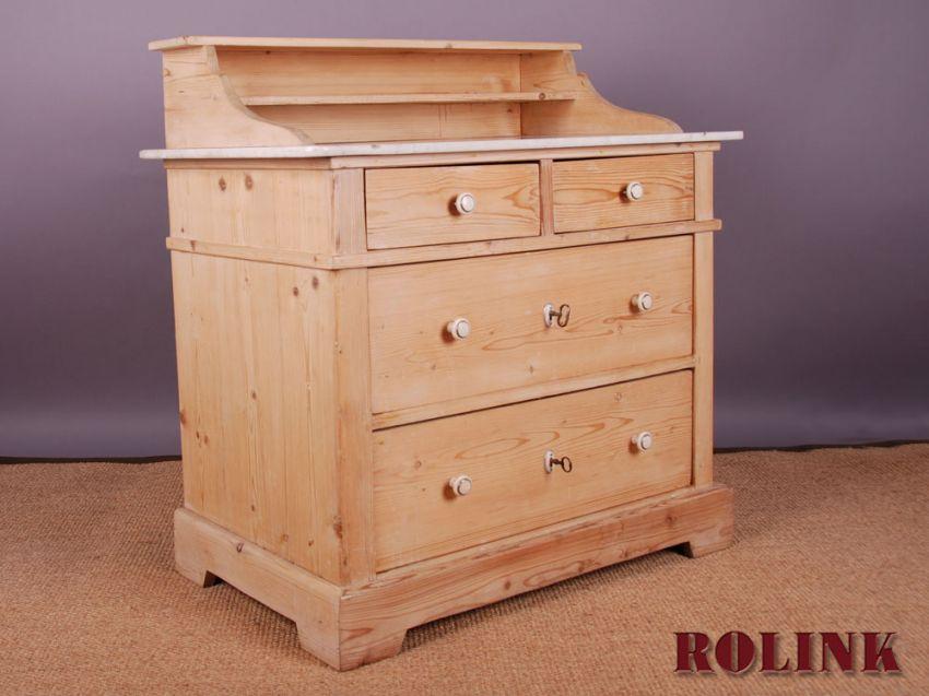 antik kommode waschtisch aus weichholz mit einer marmorplatte gr nderzeit ebay. Black Bedroom Furniture Sets. Home Design Ideas