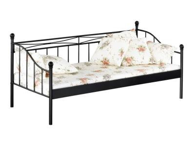 metallbett einzelbett tagesbett eisenbett 90x200cm linda ebay. Black Bedroom Furniture Sets. Home Design Ideas