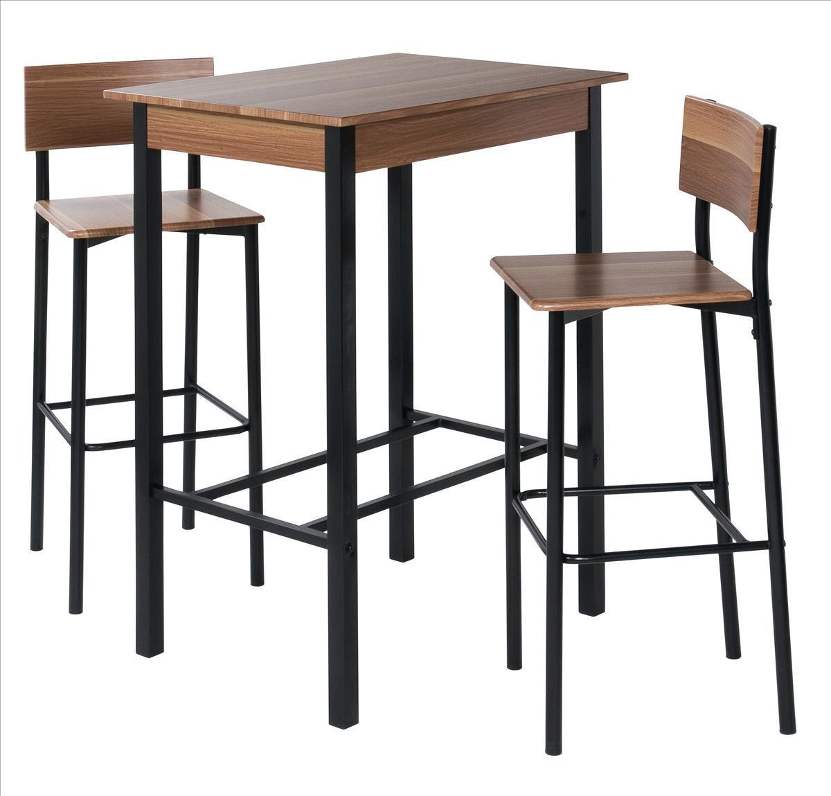 barset bar set mit 2 barhocker und 1 bartisch bistrotisch ricarda ebay. Black Bedroom Furniture Sets. Home Design Ideas