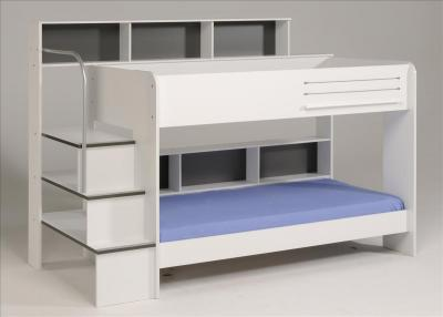etagenbett hochbett kinderbett bibop wei mit leiter und schubkasten ebay. Black Bedroom Furniture Sets. Home Design Ideas