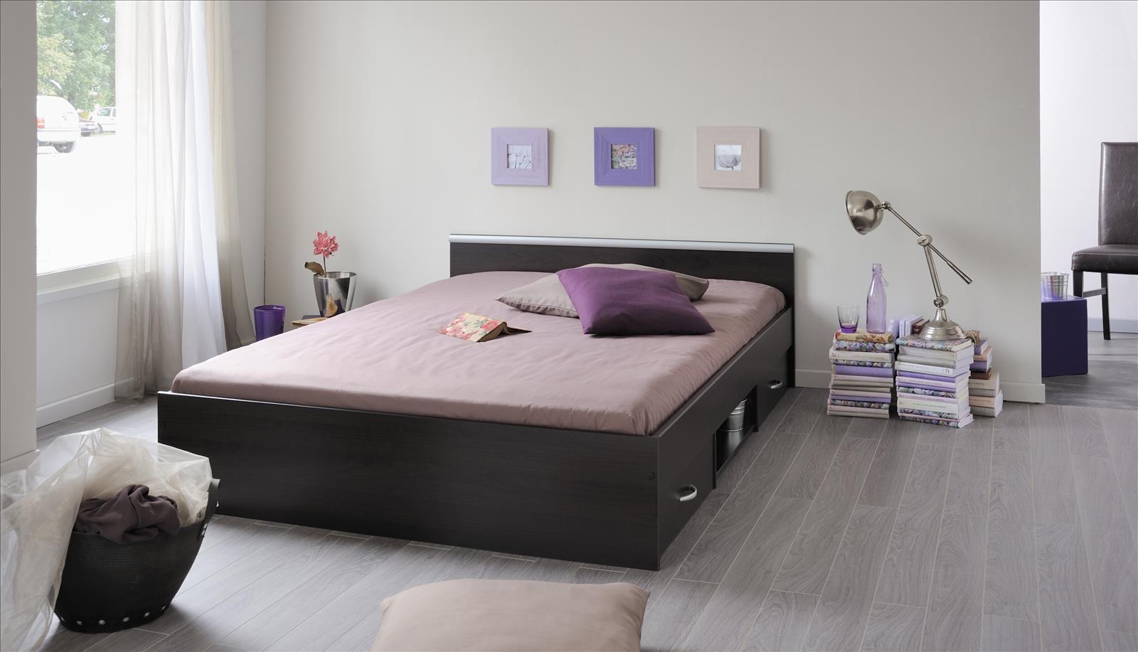 stauraumbett bett mit schubk sten und ablagefl che alpha 140x200cm ebay. Black Bedroom Furniture Sets. Home Design Ideas