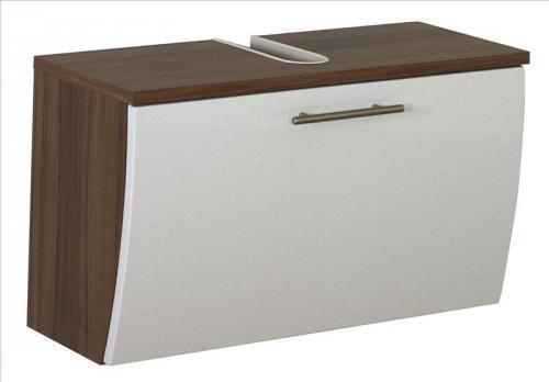 waschbeckenunterschrank salona walnuss nb wei 70x30x40cm h ngend 5610 91 ebay. Black Bedroom Furniture Sets. Home Design Ideas