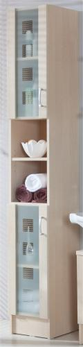 badezimmer hochschrank badschrank nizas in ahorn nb 30x32x195cm 5412 65. Black Bedroom Furniture Sets. Home Design Ideas