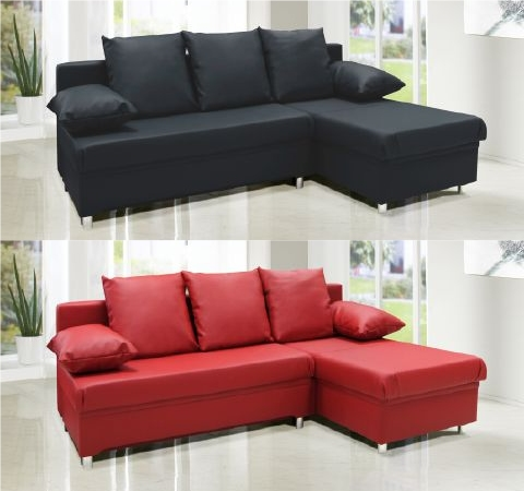 Polsterecke eck couch sofa microvelours mit schlaffunktion for Eck schlafcouch mit bettkasten