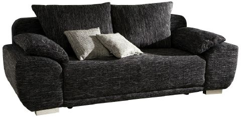 schlafsofa liegesofa sofa mit federkern und bettkasten strukturstoff maxim ebay. Black Bedroom Furniture Sets. Home Design Ideas