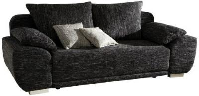 schlafsofa liegesofa sofa mit federkern und bettkasten strukturstoff maxim ebay. Black Bedroom Furniture Sets. Home Design Ideas