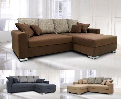 polsterecke eck couch sofa microfaser mit federkern. Black Bedroom Furniture Sets. Home Design Ideas
