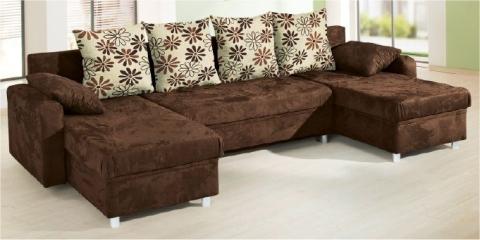 wohnlandschaft eck couch sofa mit schlaffunktion u bettkasten microfaser billy ebay. Black Bedroom Furniture Sets. Home Design Ideas