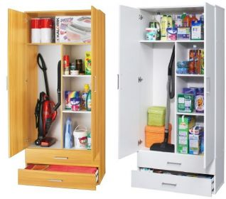 mehrzweckschrank haushaltsschrank staubsaugerschrank 2 t rig 80x178x39 cm ebay. Black Bedroom Furniture Sets. Home Design Ideas