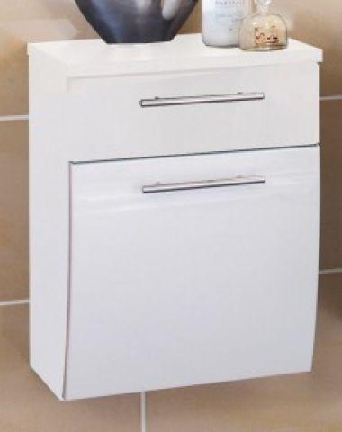 badezimmer unterschrank salona wei hochglanz 40x30x53cm h ngend 5606 76 ebay. Black Bedroom Furniture Sets. Home Design Ideas