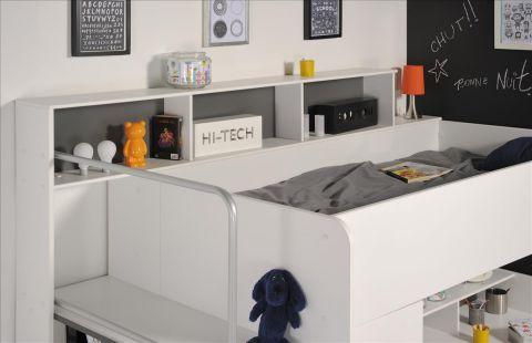hochbett between mit schrank gro em schreibtisch 245x201x122 cm. Black Bedroom Furniture Sets. Home Design Ideas