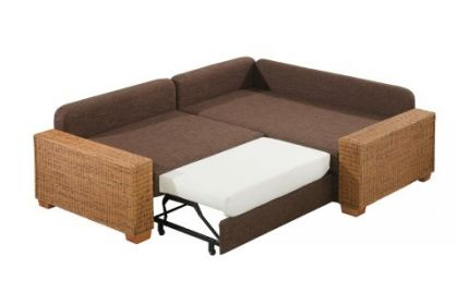 rattan polsterecke eck couch sofa mit federkern polsterung kenia ebay. Black Bedroom Furniture Sets. Home Design Ideas