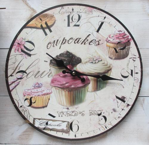 retro wanduhr muffin cupcake k chenuhr vintage uhr. Black Bedroom Furniture Sets. Home Design Ideas