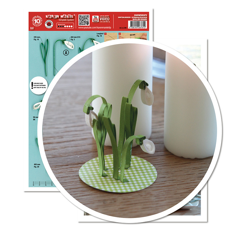quilling template schneefl ckchen blume ebay. Black Bedroom Furniture Sets. Home Design Ideas
