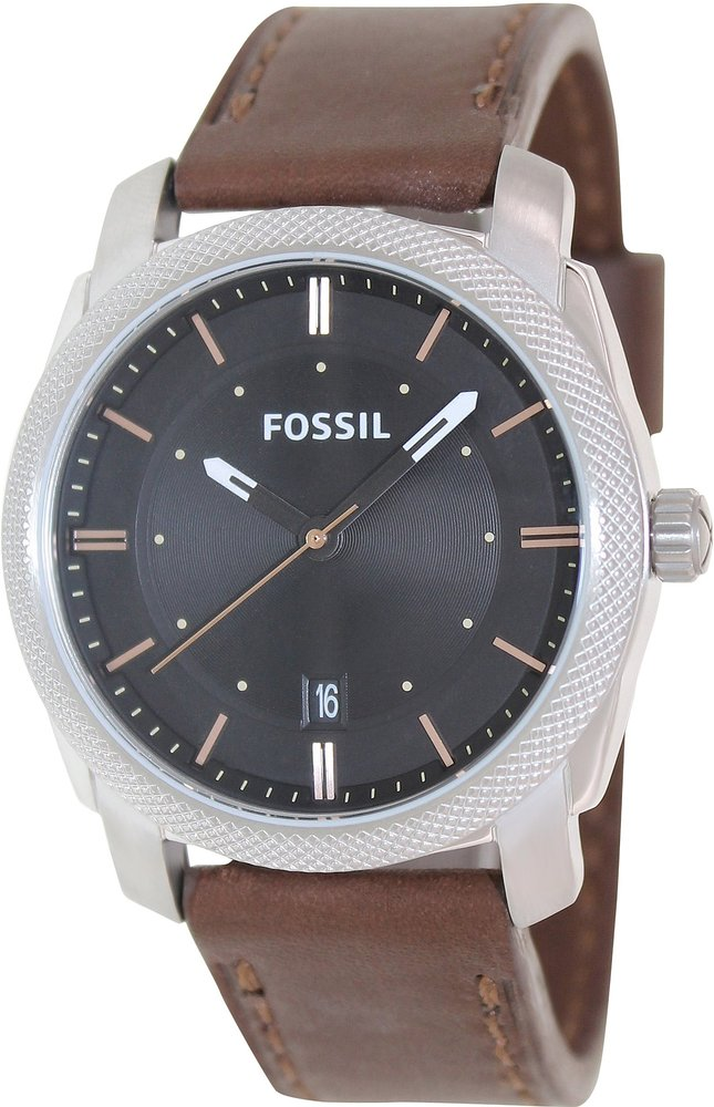 fossil fs4860 herren uhr leder analog quarz ebay. Black Bedroom Furniture Sets. Home Design Ideas