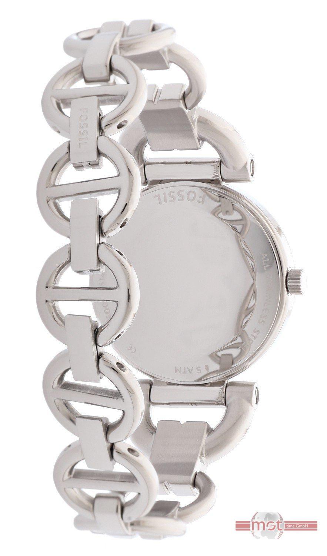 Fossil Armbanduhr Damen Holz ~ Fossil Damen Armbanduhr Silber BQ1600 Edelstahl UVP 109 EURO  eBay