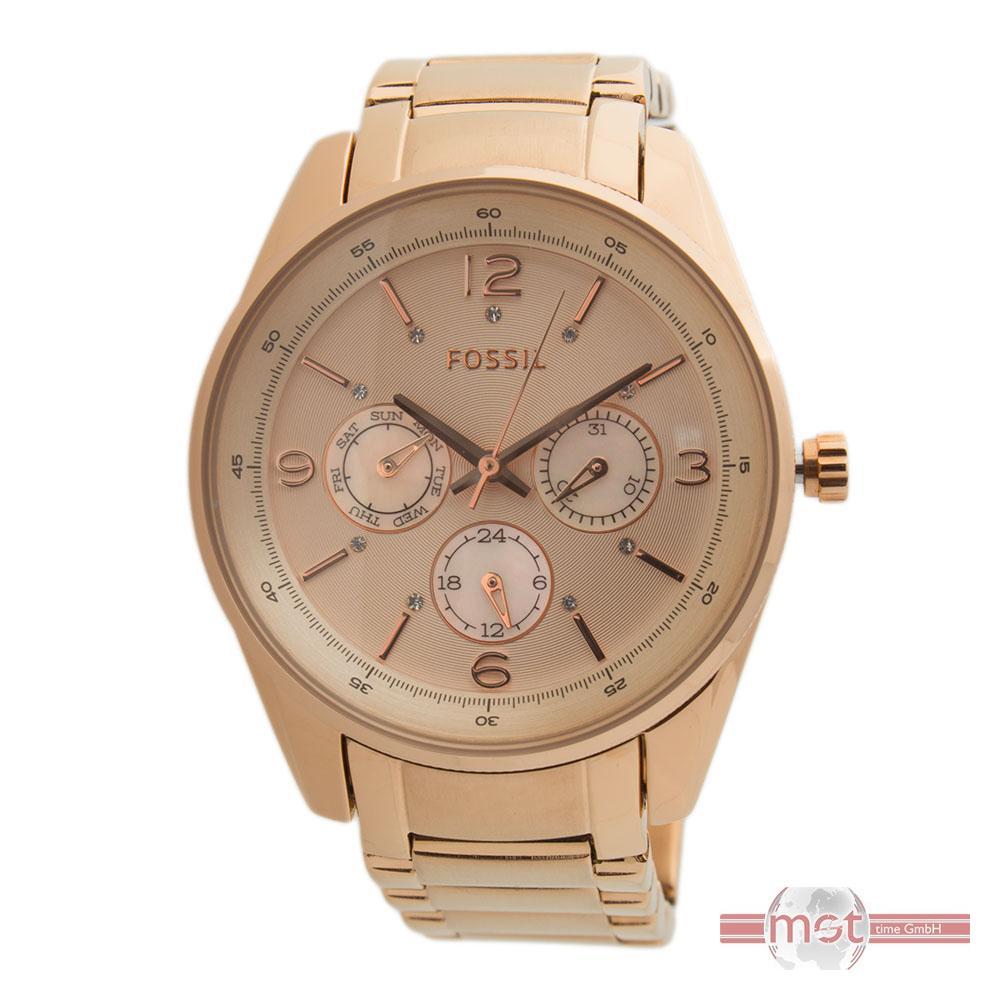 fossil armbanduhr bq1073 edelstahl rose gold chrono uvp 129 euro ebay. Black Bedroom Furniture Sets. Home Design Ideas