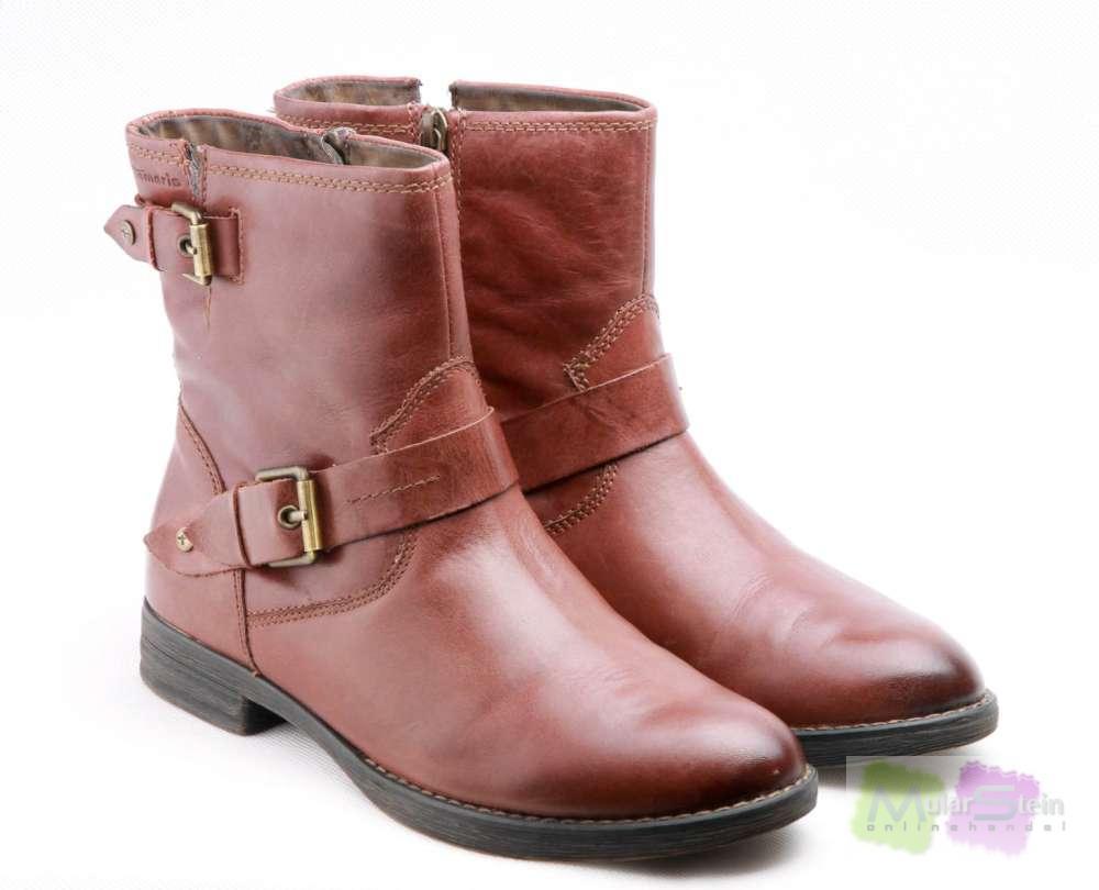Tamaris TAMARIS 1-1-25390-21, Damen Biker Boots, Braun (MUSCAT 311 ...