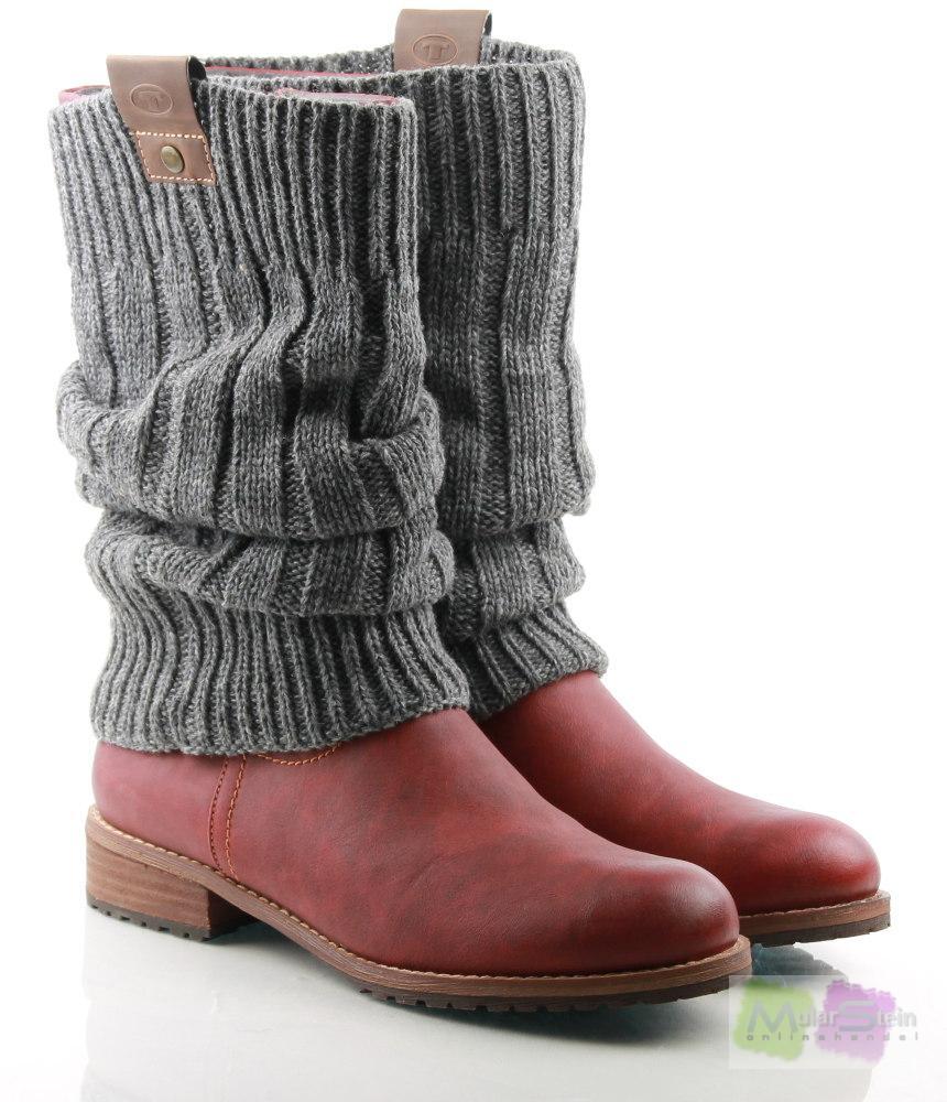 tom tailor montreal mid boot 515150037050 damen stiefel rosa red 50 eu 39 ebay. Black Bedroom Furniture Sets. Home Design Ideas