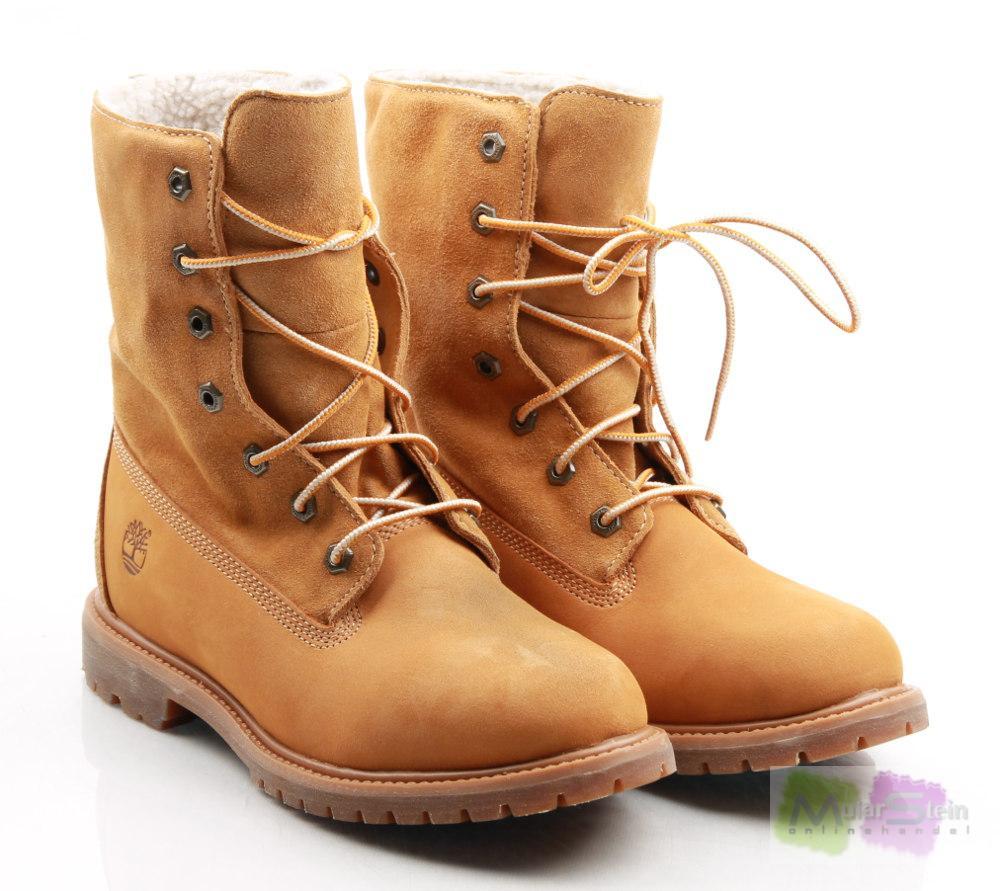 timberland athntcs fleece 3825r damen boots braun wheat. Black Bedroom Furniture Sets. Home Design Ideas