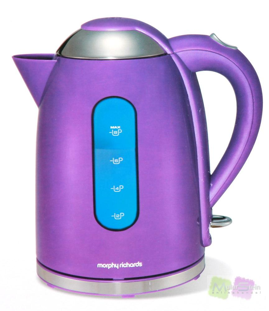 morphy richards accents wasserkocher schnurlos lila 3000 watt 1 7 l ebay. Black Bedroom Furniture Sets. Home Design Ideas