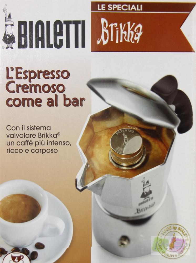 bialetti brikka 4 tassen espressokocher mit cremaventil eespresso kaffee kocher ebay. Black Bedroom Furniture Sets. Home Design Ideas