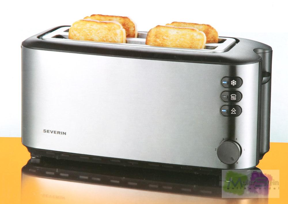 severin langschlitztoaster toaster 4 scheiben at2509 1400w ebay. Black Bedroom Furniture Sets. Home Design Ideas