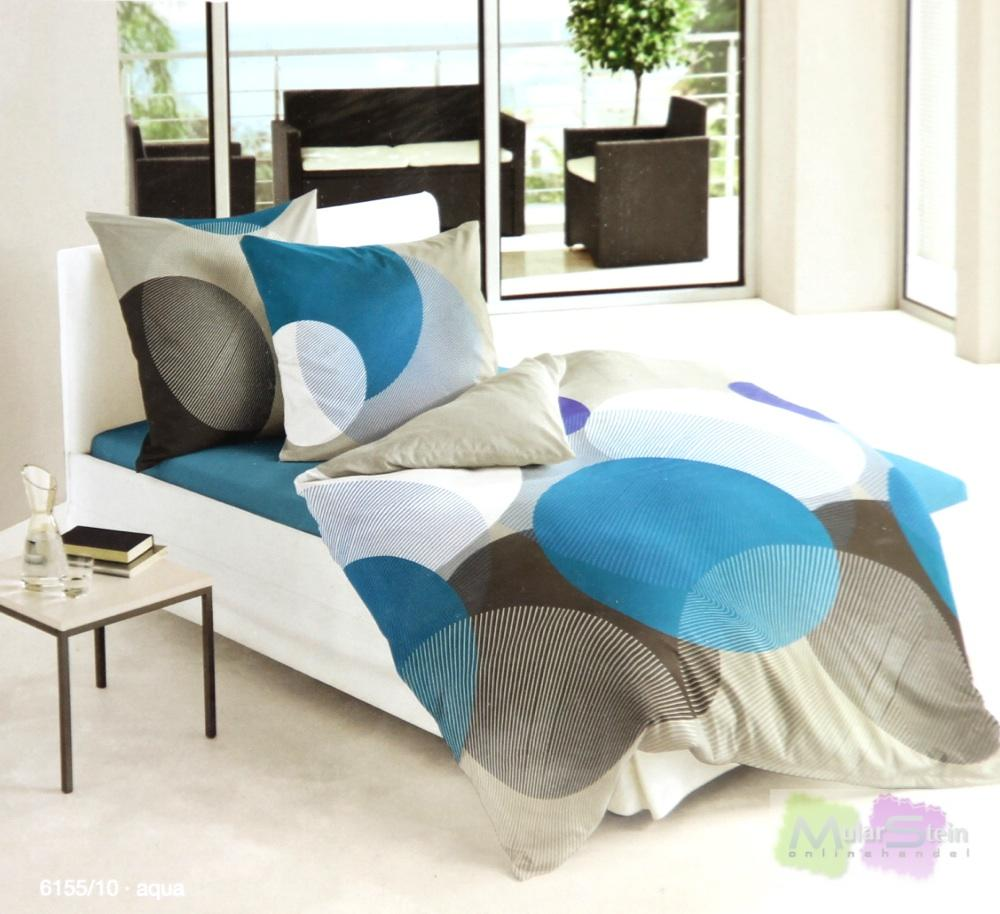 bierbaum 6155 10 mako satin bettw sche dessin 200 x 200 cm und 2 x 80 x 80 cm a ebay. Black Bedroom Furniture Sets. Home Design Ideas