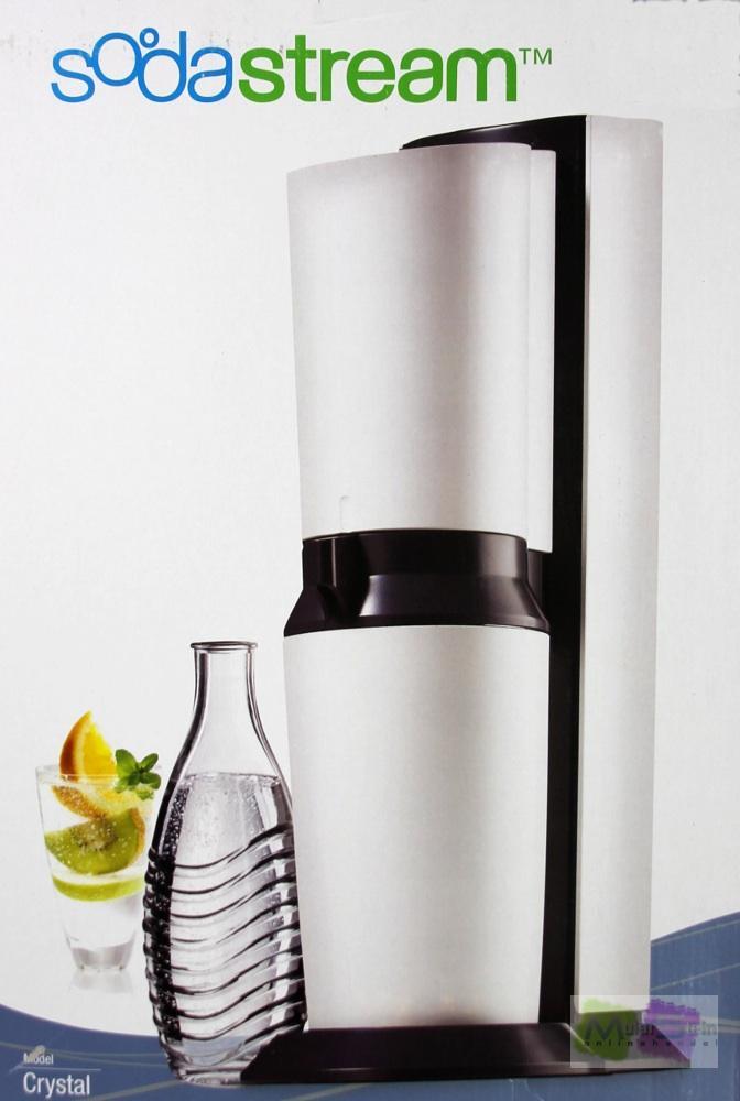 sodastream 1016512492 wassersprudler crystal weiss inkl 2 x 0 6 liter glaskaraf ebay. Black Bedroom Furniture Sets. Home Design Ideas