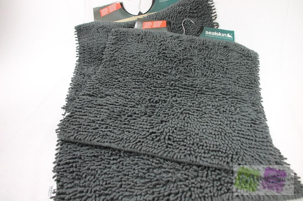 Sealskin 2teiliges Badematten Set Velce 60×60 & 60×90 cm Badgarnitur
