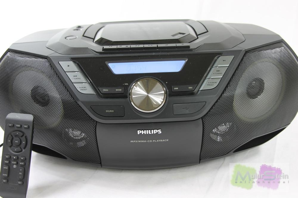 philips az 3856 tragbar cd mp3 wma player ukw tuner 2x 4. Black Bedroom Furniture Sets. Home Design Ideas
