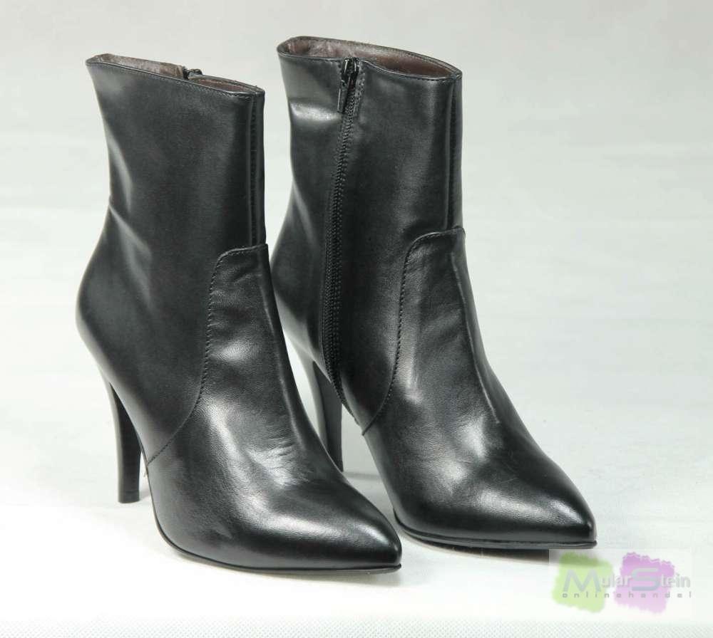 evita shoes elegant damen klassische halbstiefel stiefeletten schwarz eu 39 ebay. Black Bedroom Furniture Sets. Home Design Ideas