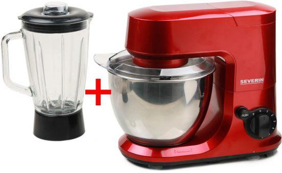 severin km 3891 k chenmaschine mit mixer aufsatz rot. Black Bedroom Furniture Sets. Home Design Ideas