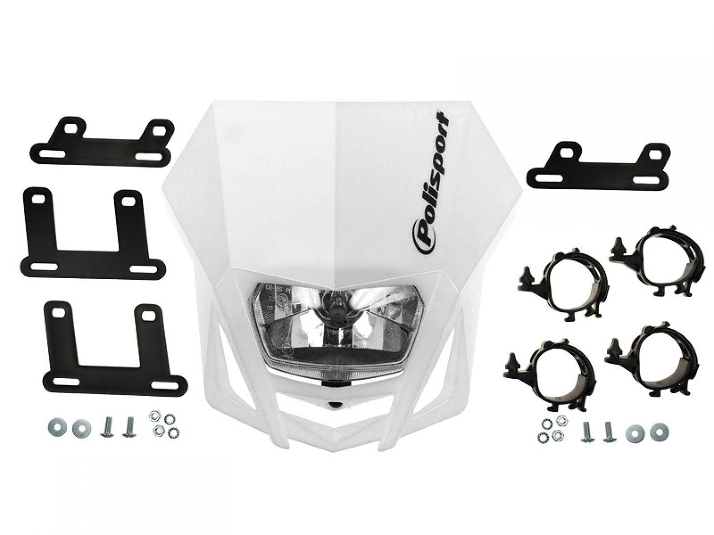 scheinwerfer maske polisport lmx wei yamaha wr 125 wr125. Black Bedroom Furniture Sets. Home Design Ideas