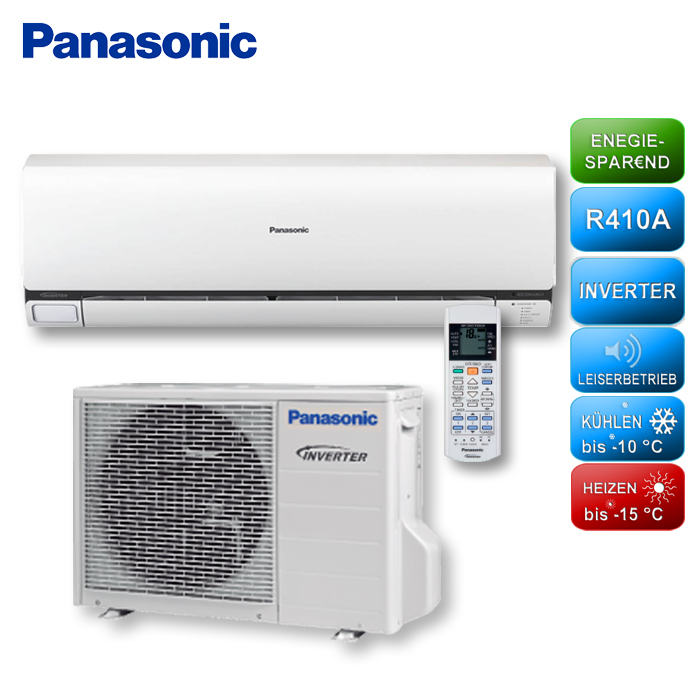 panasonic etherea cs e9qke klimager te set 2 50 kw inverter klimaanlage ebay. Black Bedroom Furniture Sets. Home Design Ideas