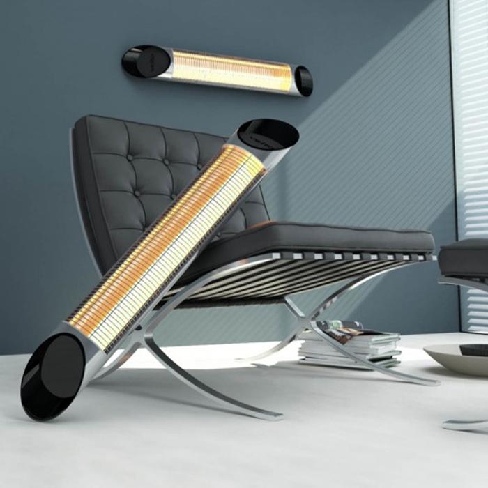 design infrarot heizstrahler blade 4 heizstufen mit fernbedienung 2500 watt ebay. Black Bedroom Furniture Sets. Home Design Ideas