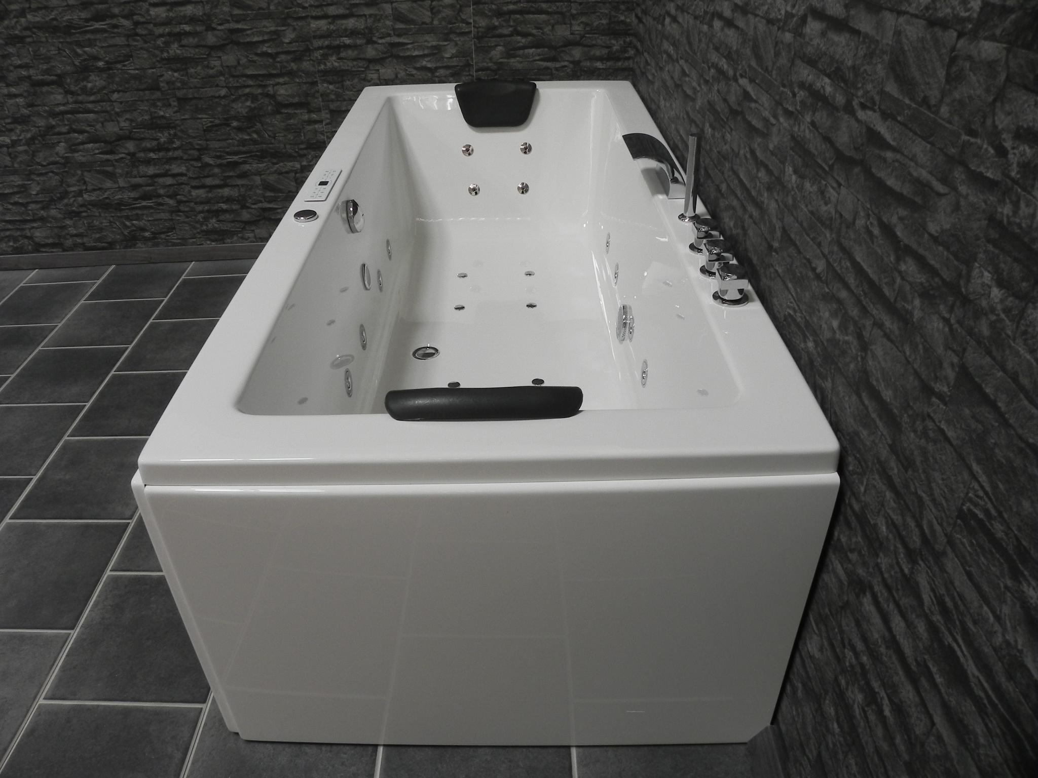 Badewanne Farbe ändern Sophia premium luxus whirlpool rechteck badewanne ozon 190x90