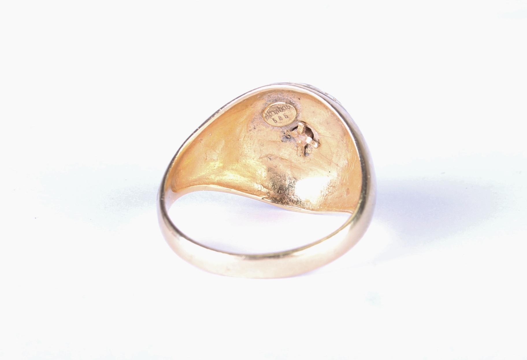 versace look medusa logo 585er herren goldring 14 karat gr. Black Bedroom Furniture Sets. Home Design Ideas