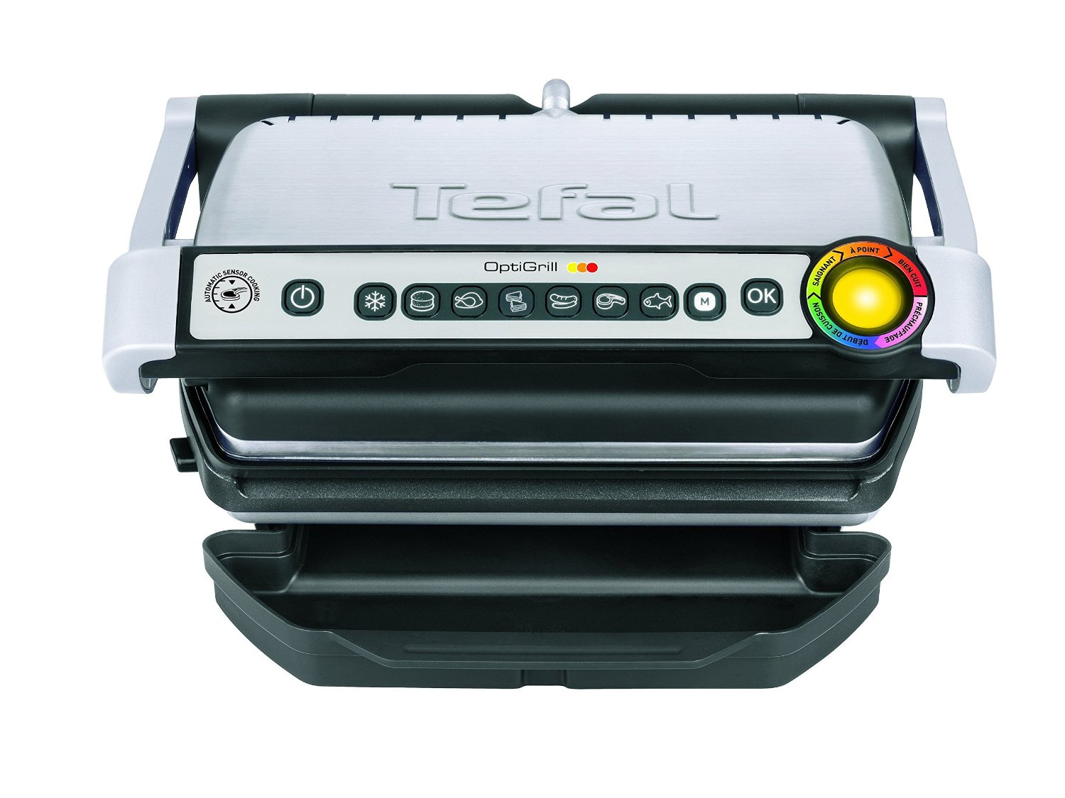 tefal gc722d optigrill plus xl 2000 w edelstahl grill. Black Bedroom Furniture Sets. Home Design Ideas